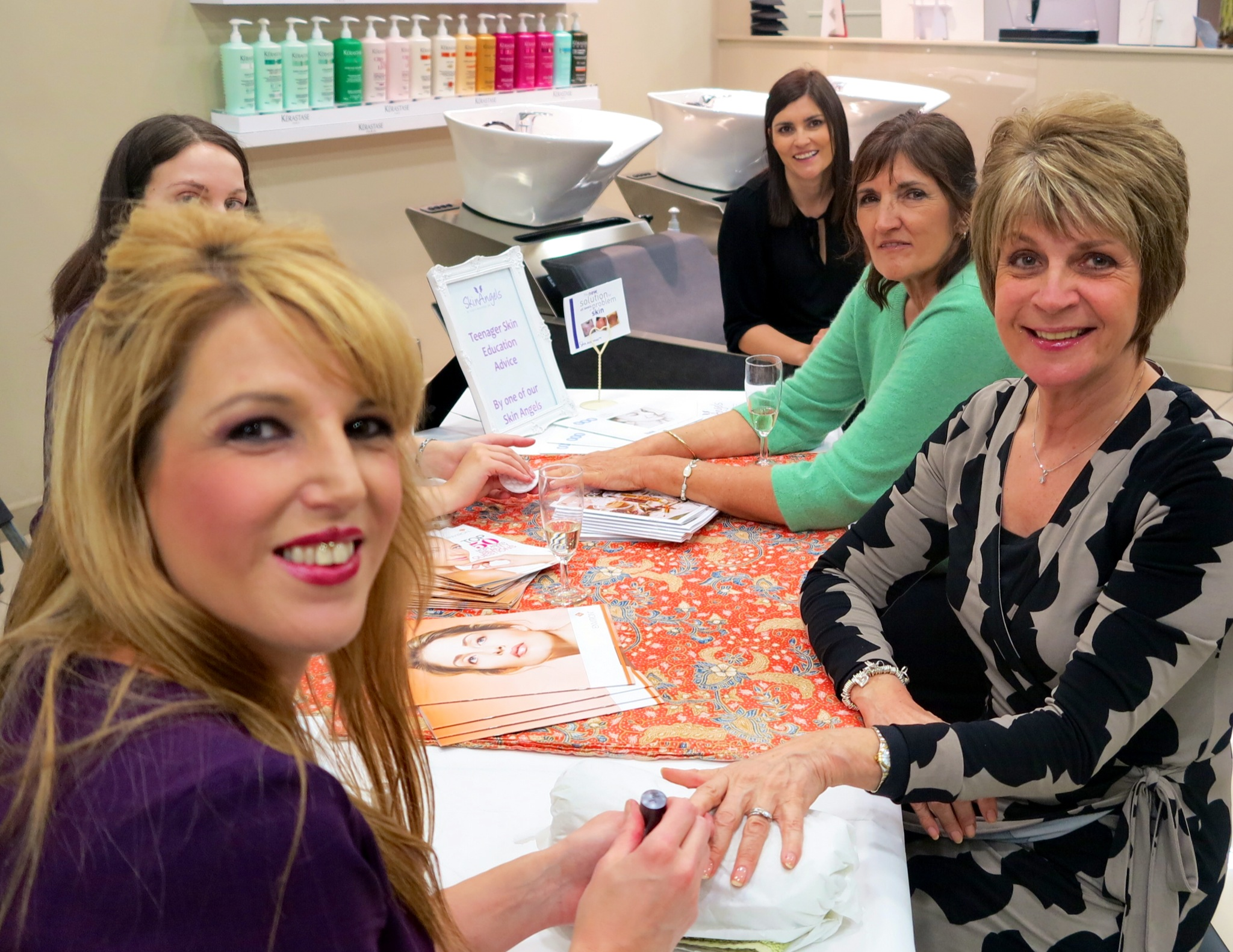 Clients getting nails done