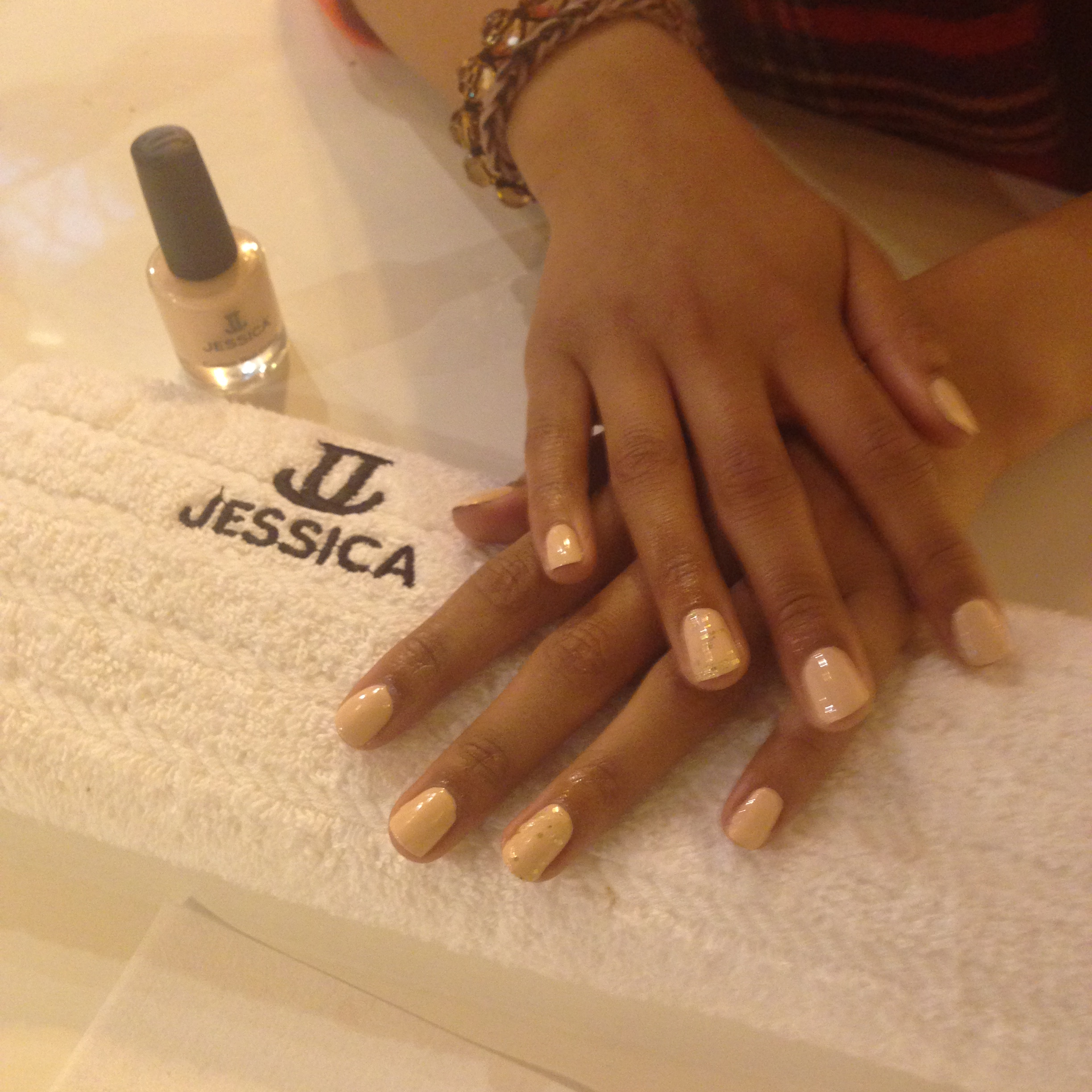 Jessica nail colour with varnish