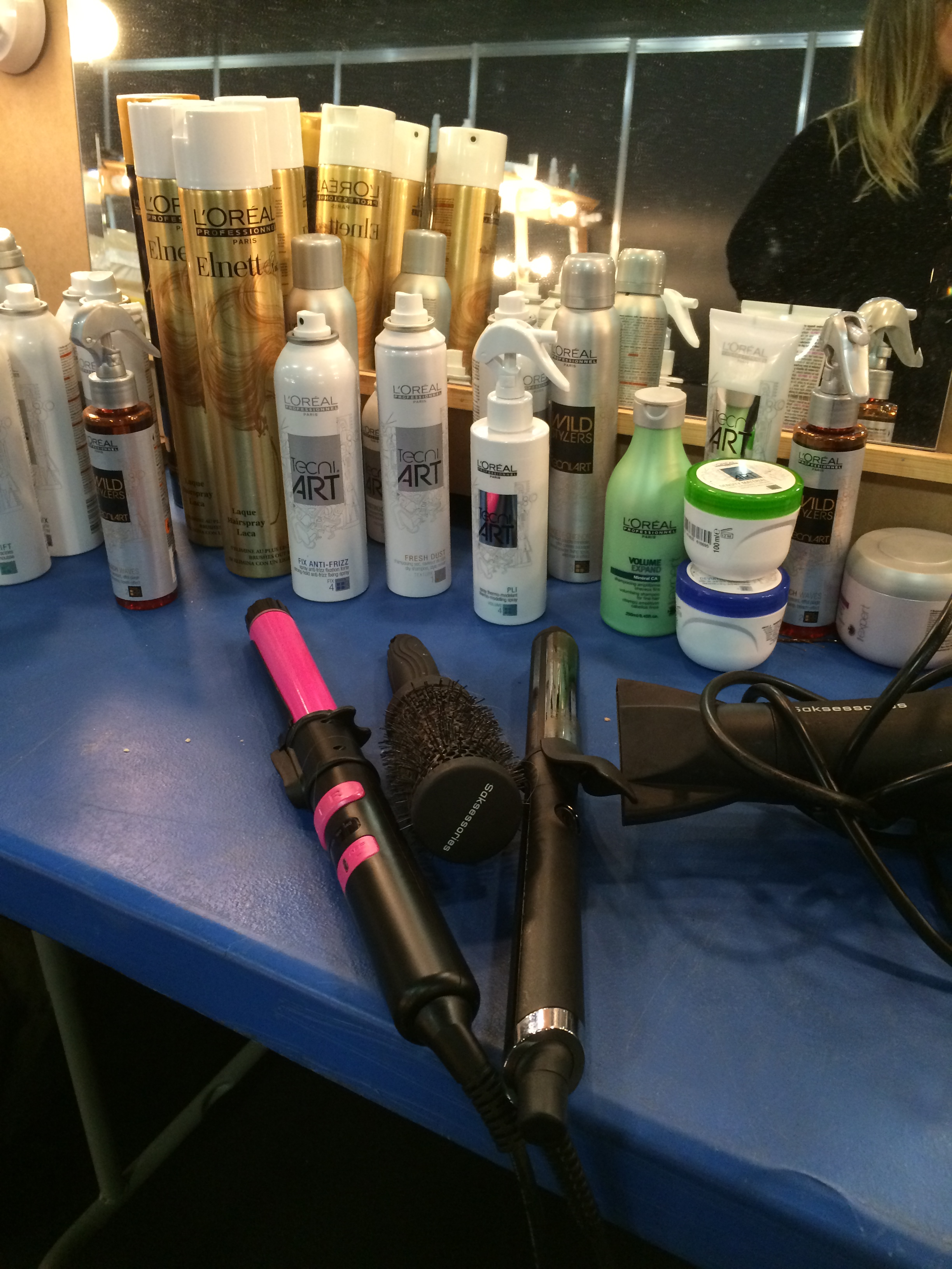 Backstage hair products