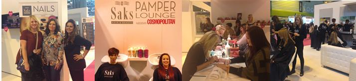 Montage of Saks Pamper Lounge images
