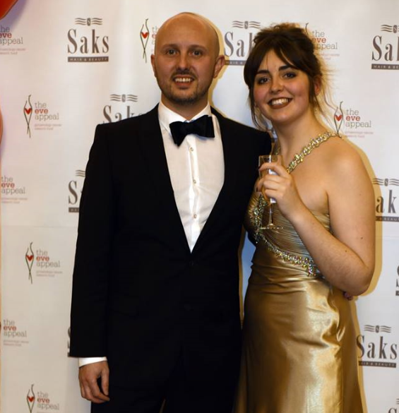 Lovely Jess (that dress) and 'the name's Bond' oops Saks Barney hair salon owner Simon