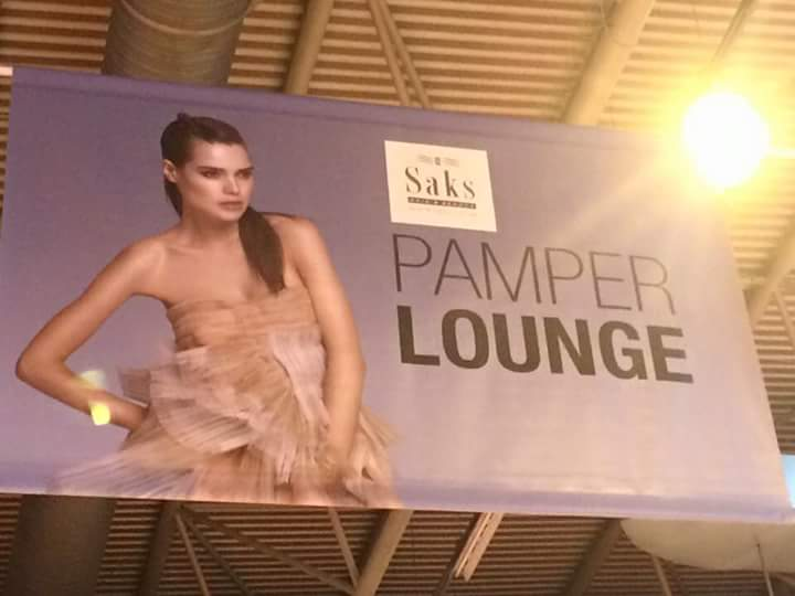 Saks Hair & Beauty sign at The Clothes Show 2015