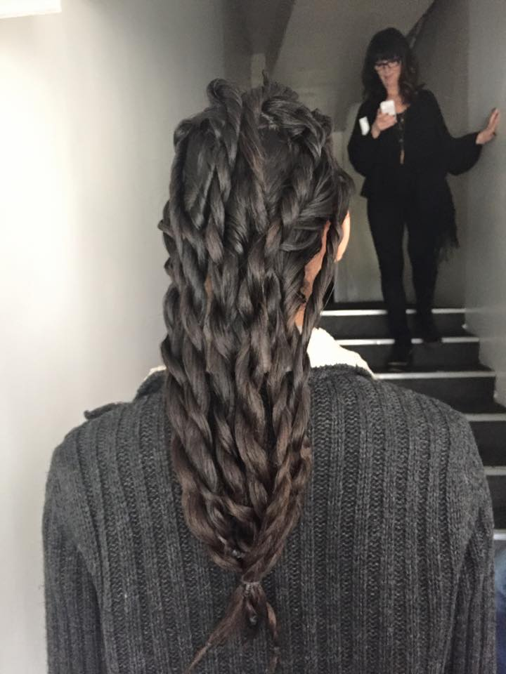 Plaited hair at Paris Fashion Week Bernard Chanran