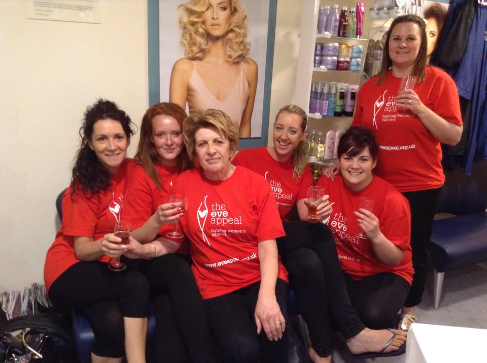 Saks Hull fundraising team