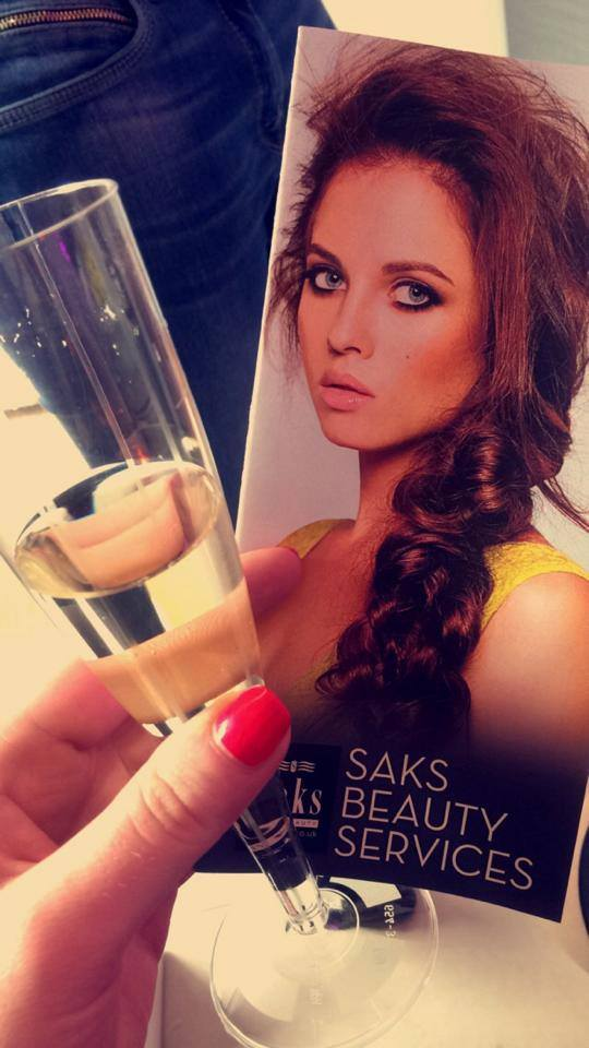 Raising glass to Saks Beauty Gosforth
