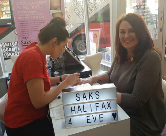 Nail action over at Saks Beauty Halifax