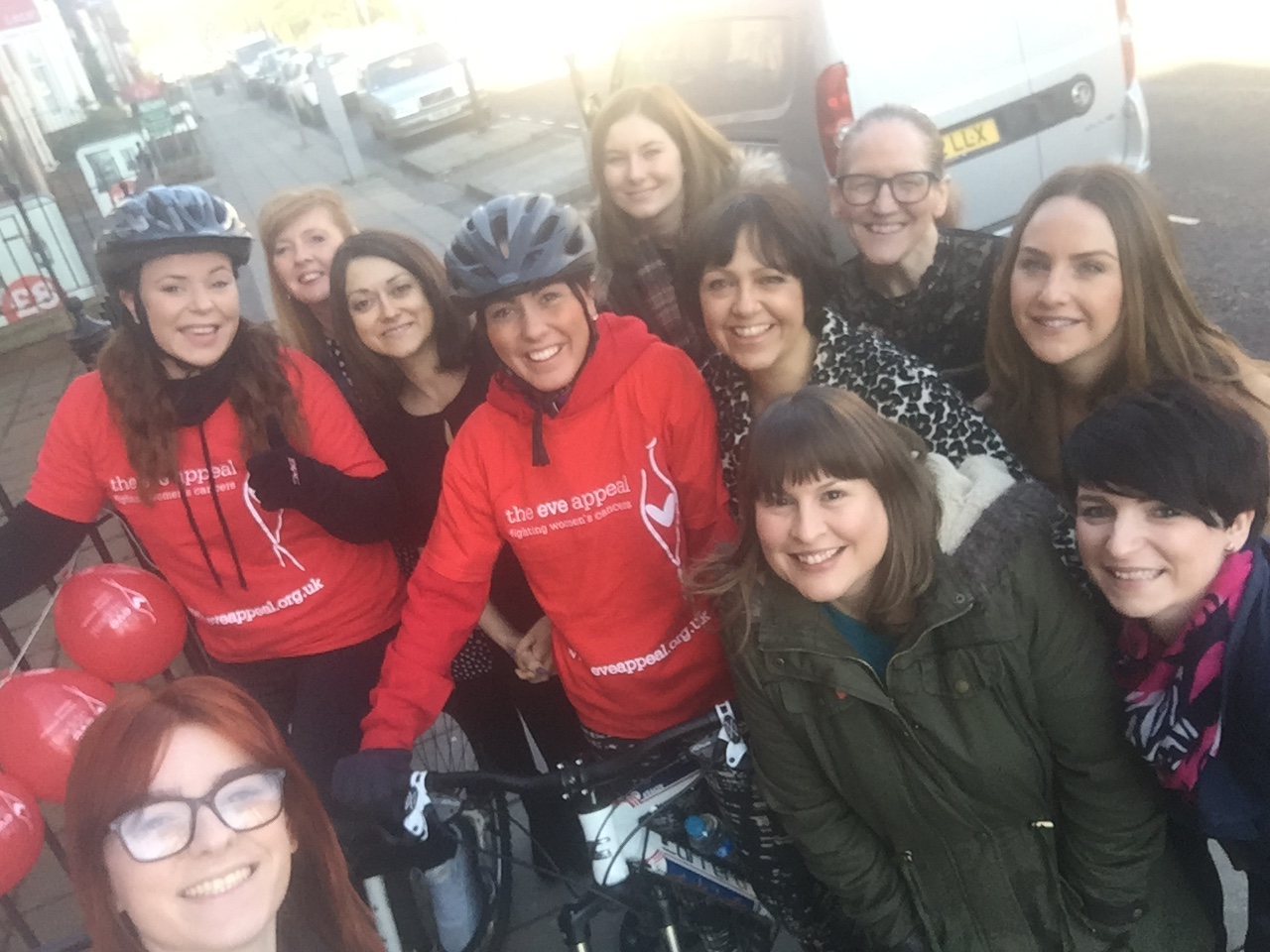 Saks cyclists for The Eve Appeal