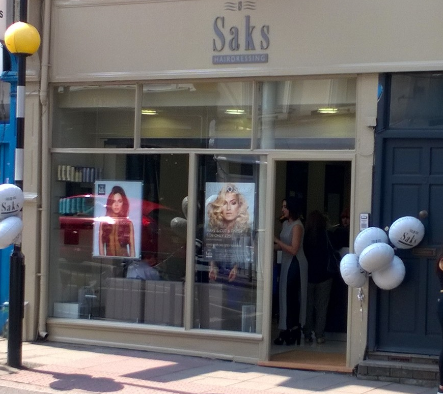 Exterior of Saks Hair Crouch End