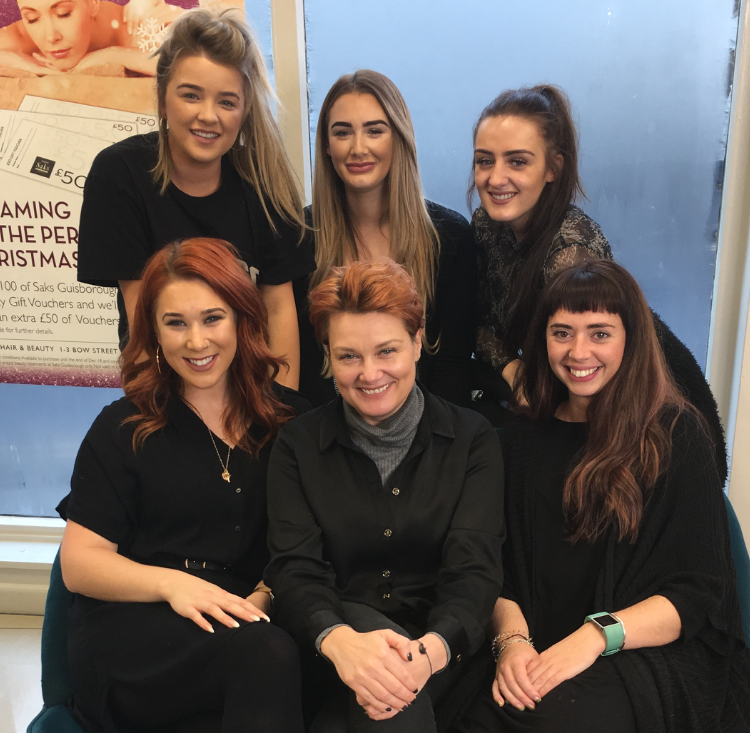 Sarah Ross and the team at Saks Guisborough