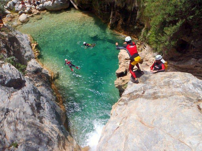 Water jump in Sierra Nevada