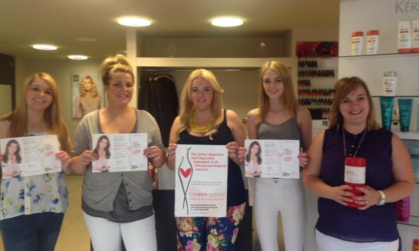 Saks Royston team in salon ready for fundraising event