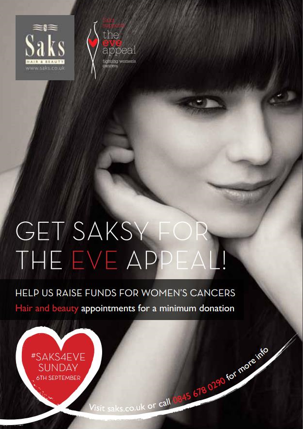 Saks hair and beauty post for The Eve Appeal