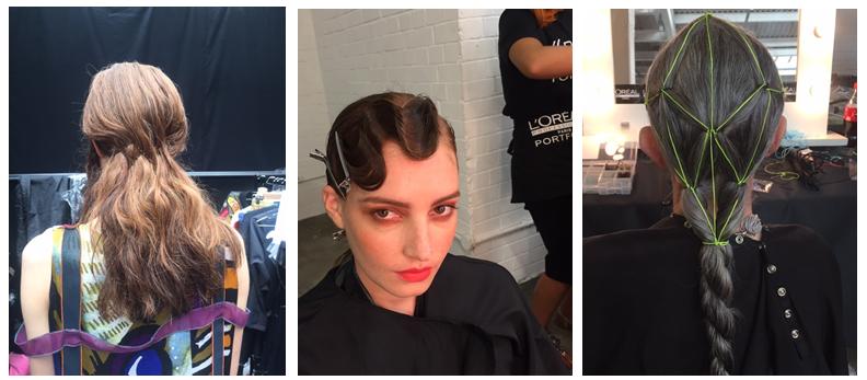 Graduate Fashion Week hairstyles by Luke Pluckrose at Saks