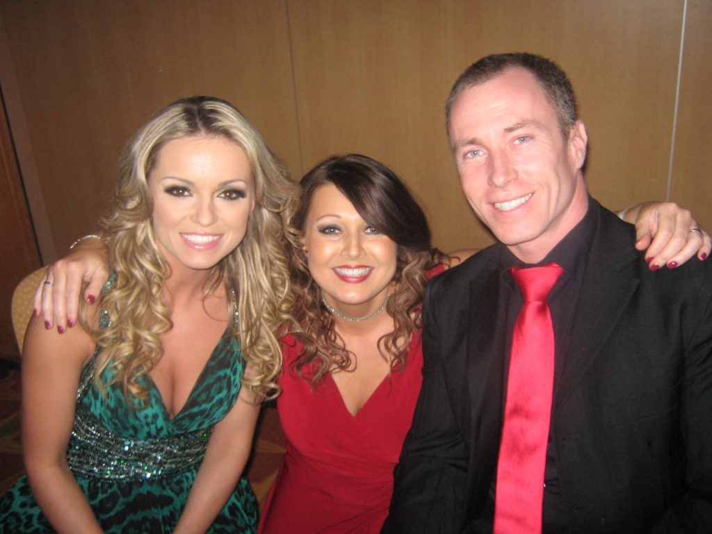 Claire Denyer with Ola and James Jordan