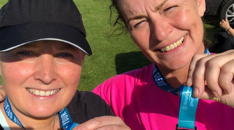 Anna and Sue do the Great North Run