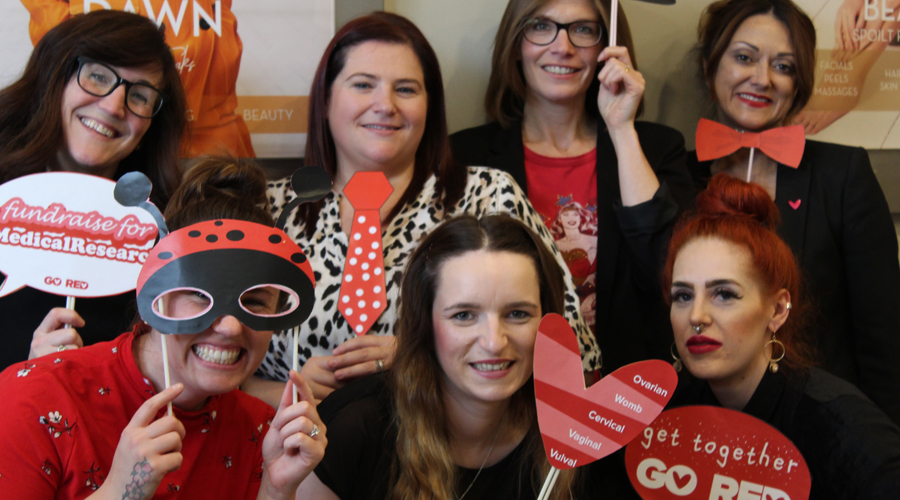 Saks HQ team at Go Red for Eve event