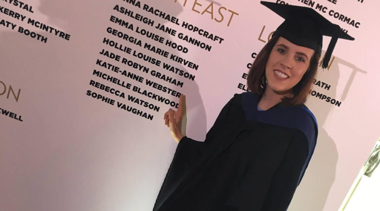 Jade at Saks Northallerton graduating