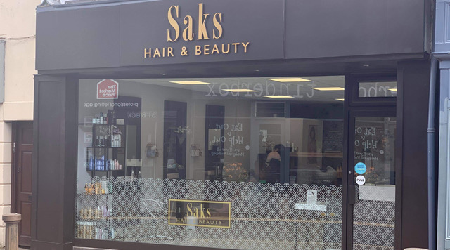 Saks Poulton salon shop front