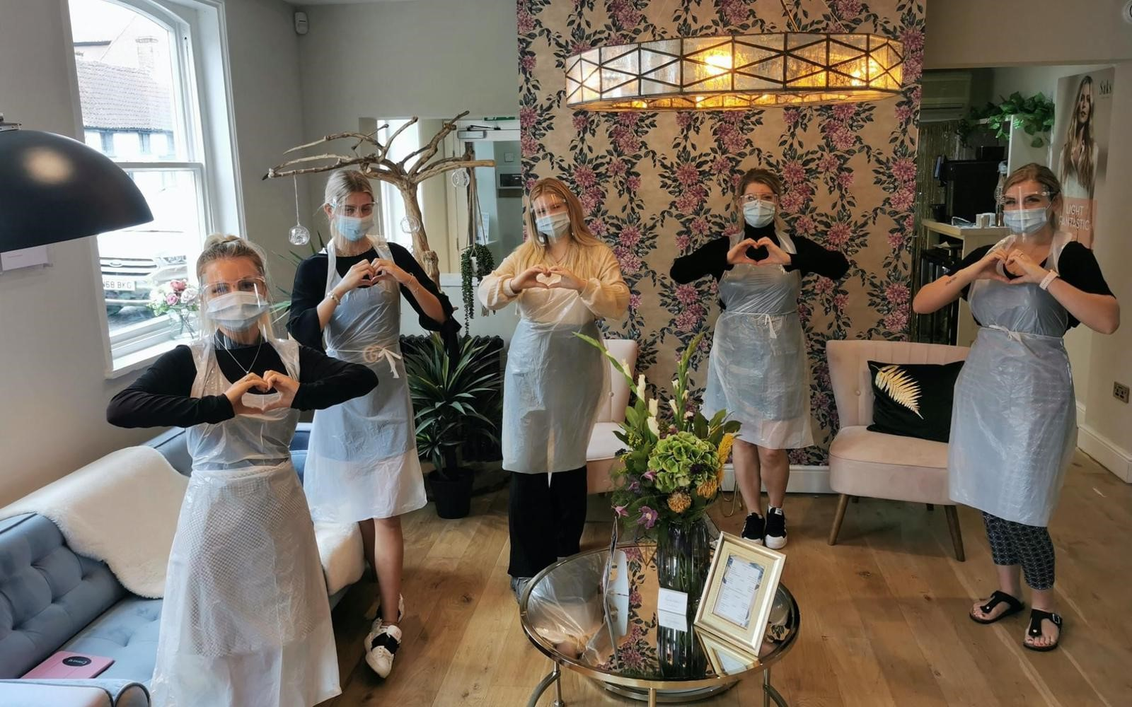 Saks Newark hair team supporting NHS