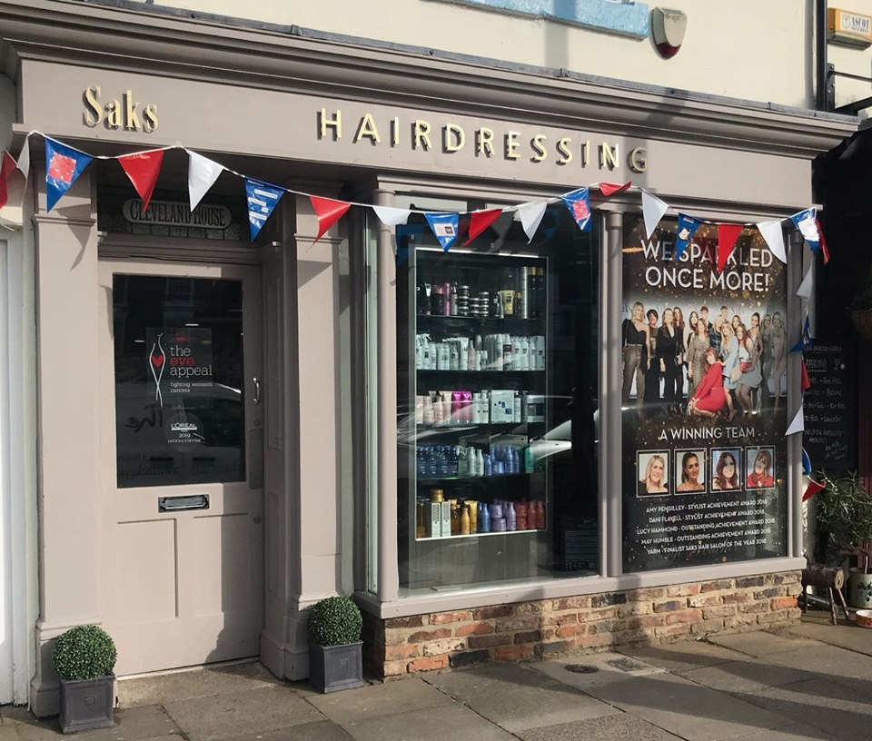 Saks Yarm flying the flags