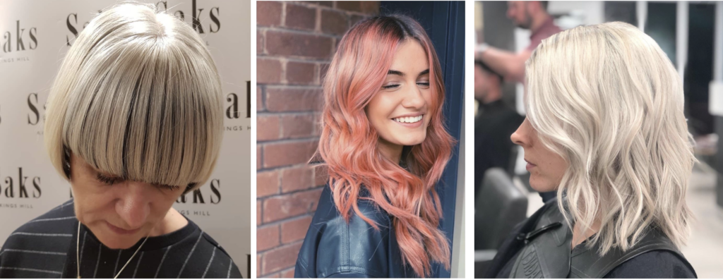 Three hair makeovers at Saks March 2020