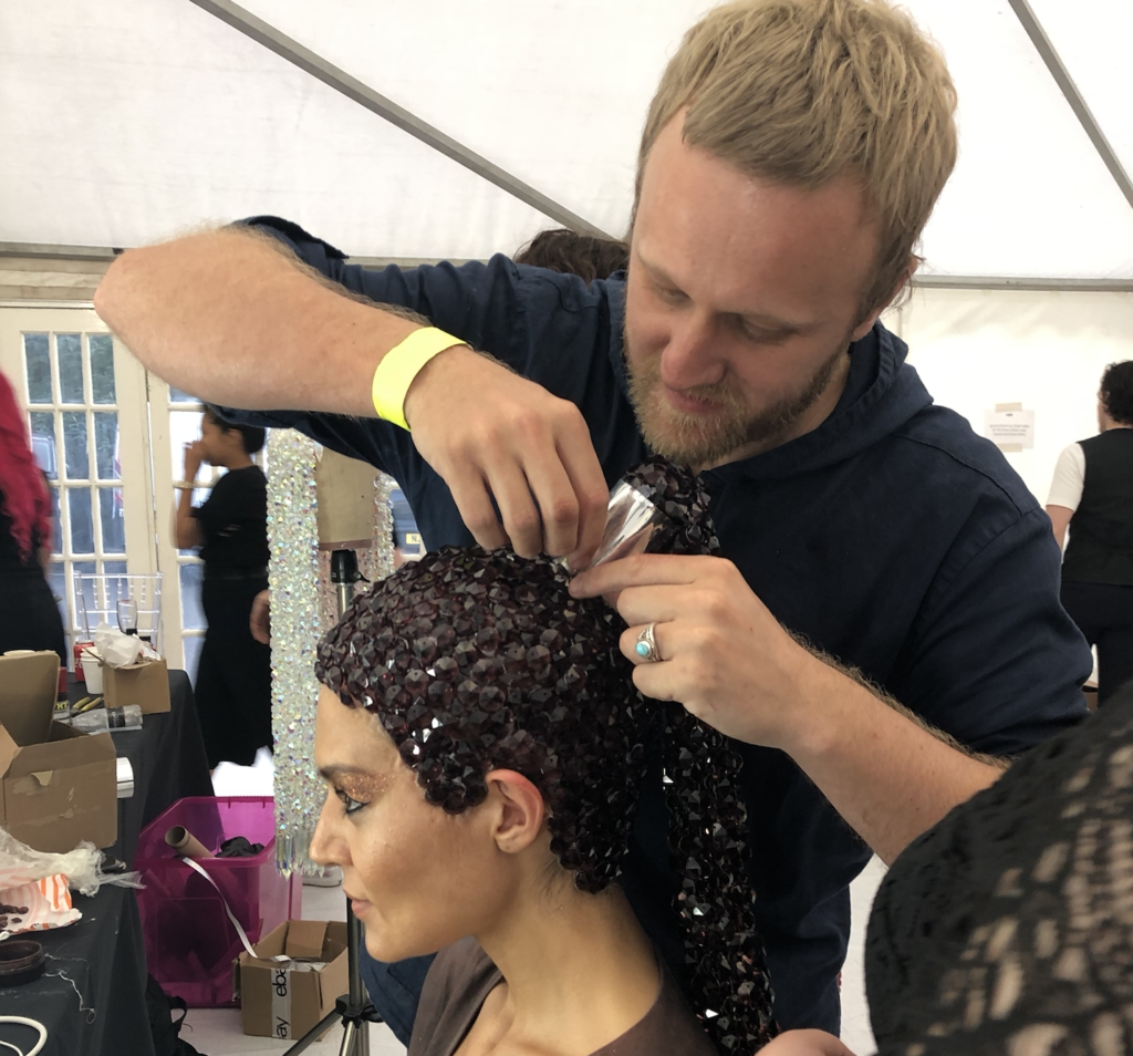 Luke of Saks backstage at LCT 2019
