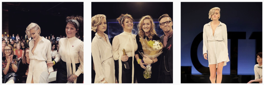Zoe and Sophie at L'Oreal Colour Trophy final