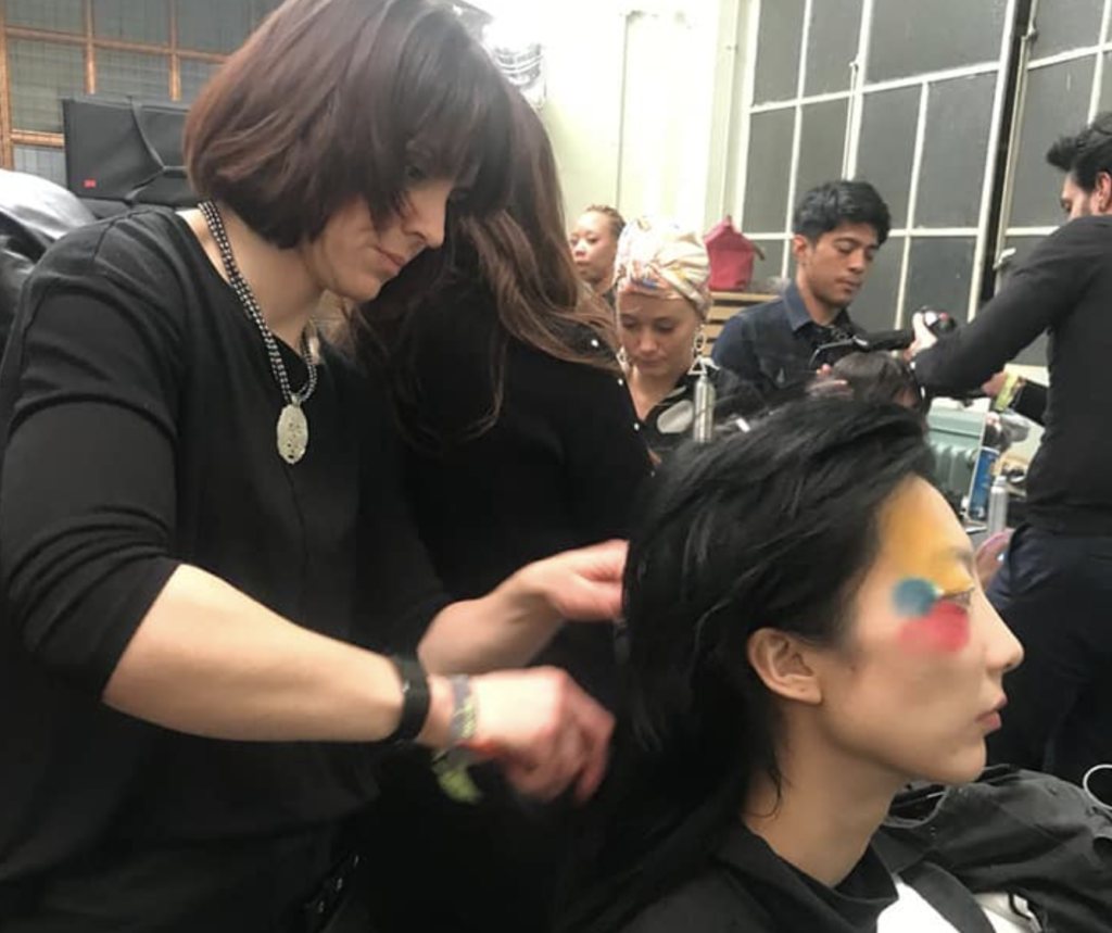 Nikki of Saks backstage at Hong Kong Fashion Week 2020