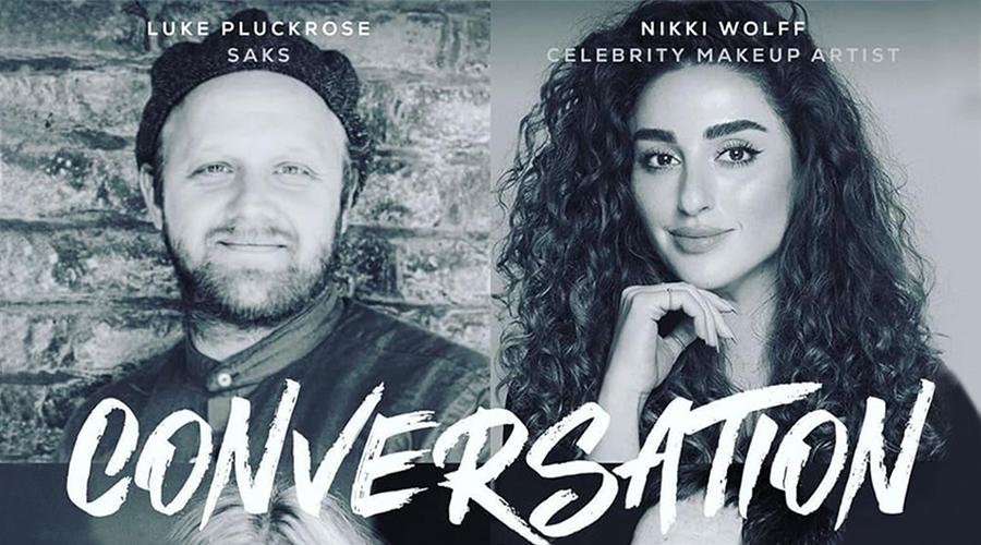Luke Pluckrose of Saks with Nikki Wolff